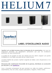 7perfect, label d'excellence audio...